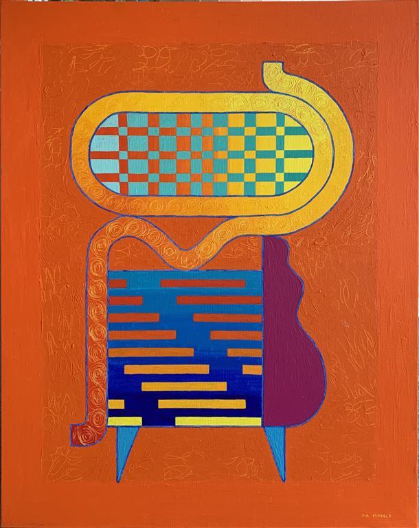 Farewell Akrylmaleri (92x74 cm) kr 32000 ur