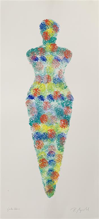 Garden Venus I Akryl på papir (70x30 cm) kr 6000 mr