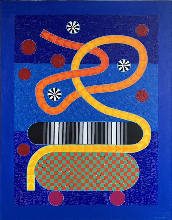 Spirit Play II Akrylmaleri (116x90 cm) kr 46000 ur