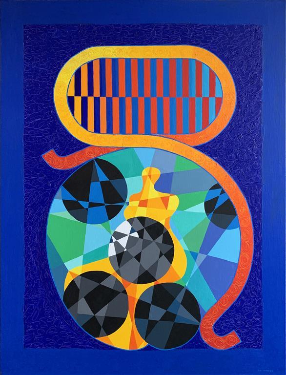 The Muse Akrylmaleri (116x90 cm) kr 46000 ur