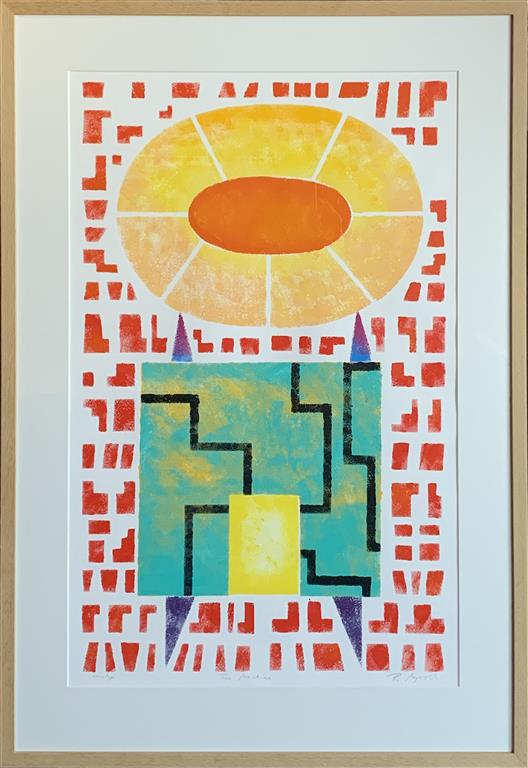 Time Machine I Akrylmaleri på papir (80x50 cm) kr 12000 mr