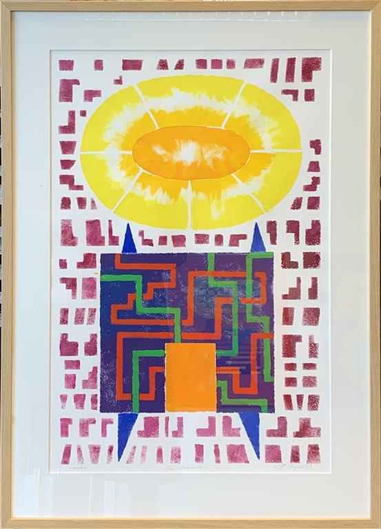 Time Machine II Akrylmaleri på papir (80x50 cm) kr 12000 mr