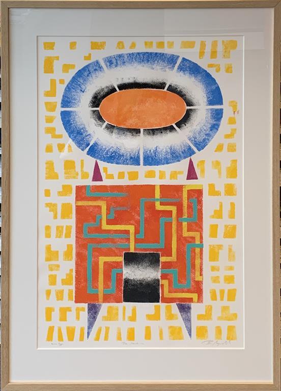 Time Machine III Akrylmaleri på papir (80x50 cm) kr 12000 mr