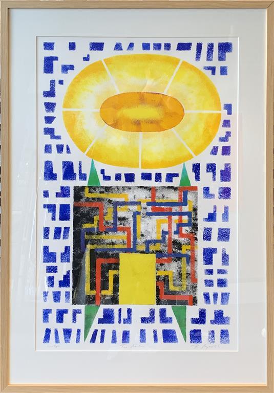 Time Machine IV Akrylmaleri på papir (80x50 cm) kr 12000 mr