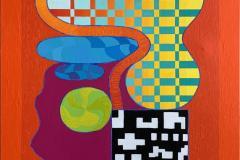 Open House Akrylmaleri (130x100 cm) kr 57000 ur