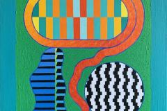 Garden Play Akrylmaleri (92x74 cm) kr 32000 ur