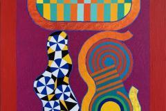 Rubicon Akrylmaleri (92x74 cm) kr 32000 ur
