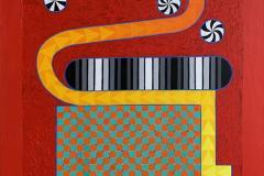 Spirit play I Akrylmaleri (100x81 cm) kr 38000 ur