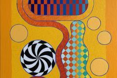 Time Shield Akrylmaleri (92x74 cm) kr 32000 ur