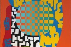 Assemblage IX Akrylmaleri 73x60 cm kr 32000 ur