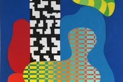 Assemblage VII Akrylmaleri 100x81 cm kr 45000 ur