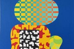 Assemblage X Akrylmaleri 73x60 cm kr 32000 ur
