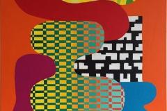 Assemblage XIV Akrylmaleri 100x81 cm kr 45000 ur