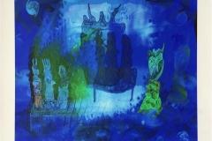 Garden of delights blå Digigrafikk (45x45 cm) kr 4000 ur