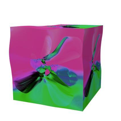 ButterFlyCube (Magenta) Digigrafiokk 46x52,5 cm 4000 ur