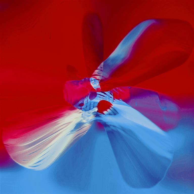 ButterFlyEffect (Red) Digigrafikk 50x50 cm 4000 ur