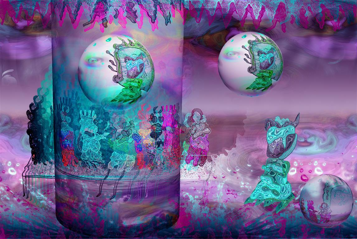 GardenDelightsMicro (Purple) Digigrafikk 27x38 cm 1700 ur