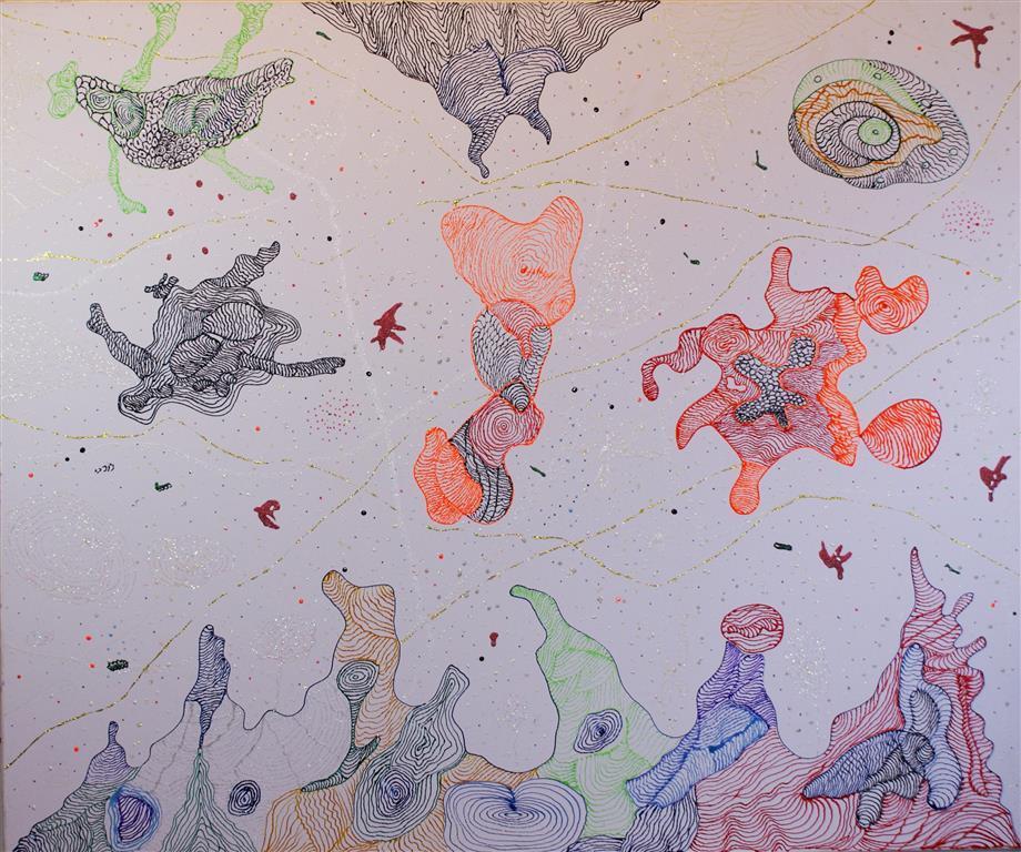Organic-Landscape-Reef-Acrylic-Ink-on-Canvas-100x120-cm-15000-ur