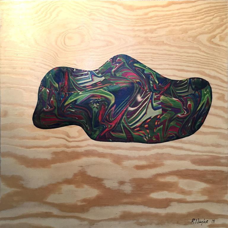 ShoeWarp Mixed Media on PlyWood 60x60 cm 5000 ur