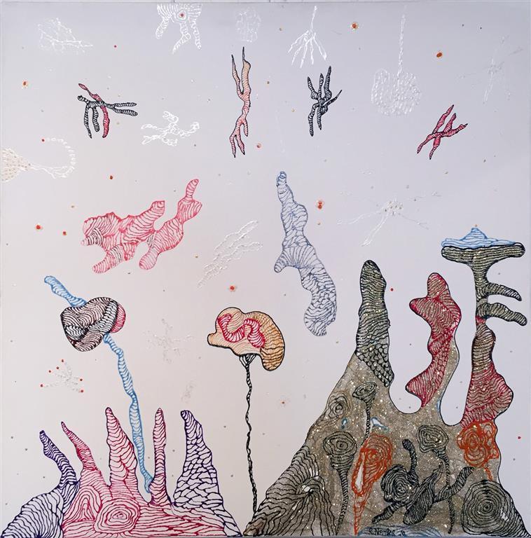 Topology Garden nr7 Acrylic on Canvas 80x80 cm 8000 ur