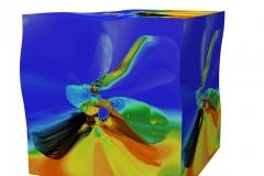 ButterFlyCube (Blue) Digigrafikk 46x52,5 cm 4000 ur
