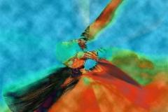 ButterFlyEffect (BluCloud) Digigrafikk 50x50 cm 4000 ur
