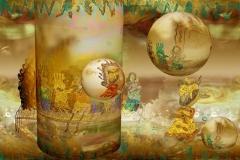 GoldenGate (Artist Print) Mixed Media on Aluminium 80x120 cm 12000 ur