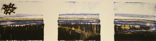 Utsikt Litografi 5x22cm 200,-kr u.r.