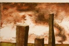 Fra Jaeren Litografi 30x22cm 800,-kr u.r.
