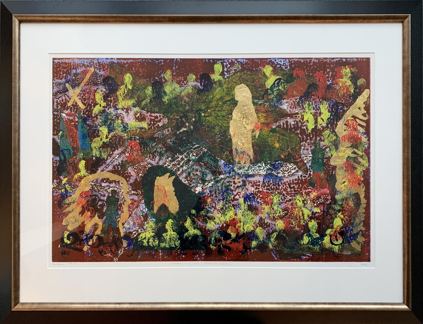 Gullskulptur fra Syngeplantehagen Materialtrykk bladgull (50x87 cm) kr 18000 mr