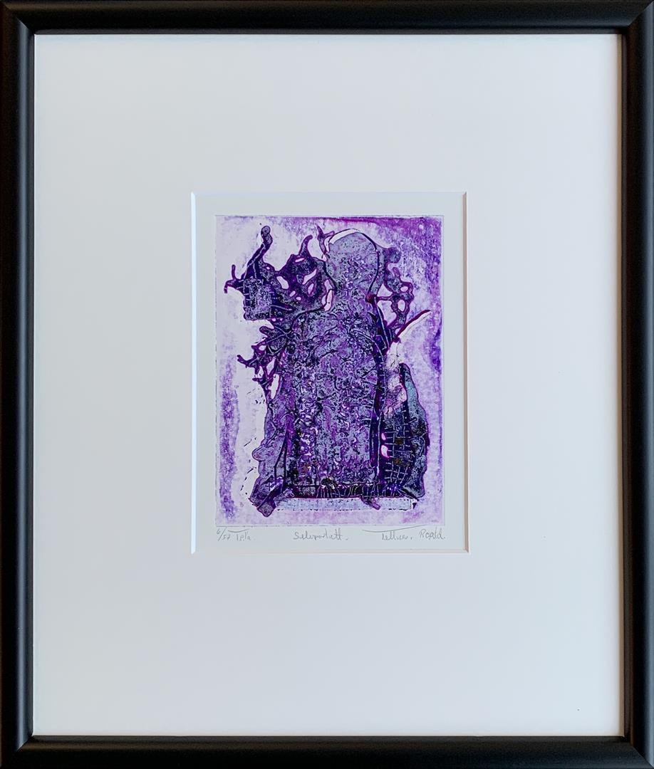 Selvportrett Materialtrykk (15x11 cm) kr 2600 mr