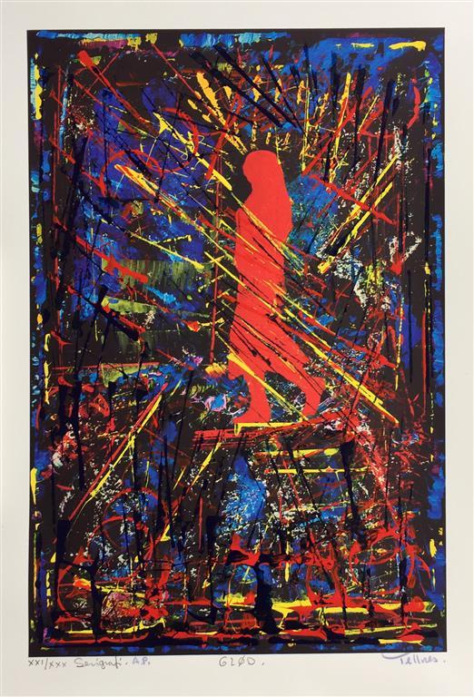 Glød Serigrafi (45x30 cm) kr 4000 ur