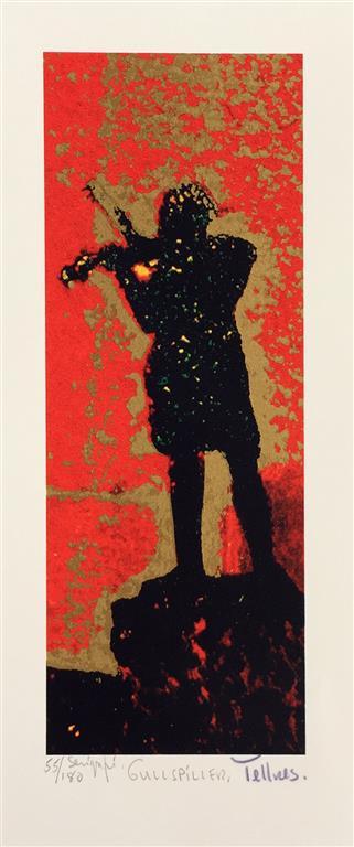 Gullspiller Serigrafi (23x9 cm) kr 1500 ur