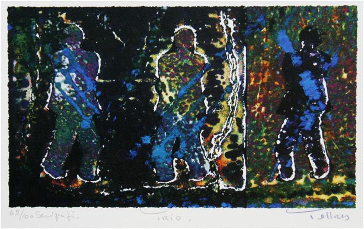 Trio Serigrafi 16x27 cm 1400 ur