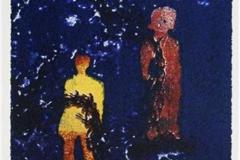Olympiske stjerner Serigrafi 24x16,5 cm 1500 ur