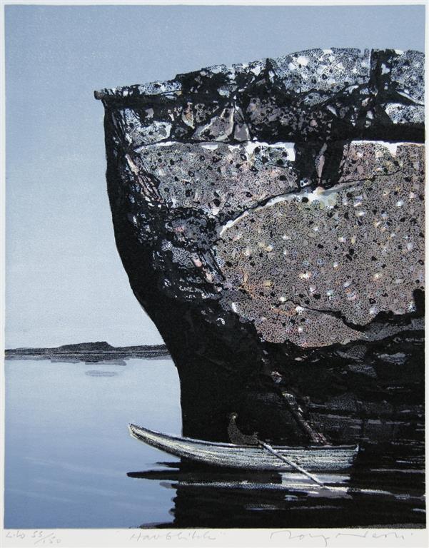 Havblikk Litografi (33x27 cm) kr 2200 ur