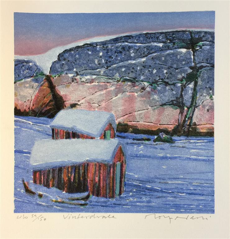 Vinterdvale Litografi (25x25 cm) kr 2200 ur