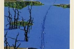 Løype Litografi (86x33 cm) kr 5000 ur