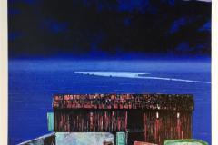 Minner av blått Litografi (55x55 cm) kr 5000 ur