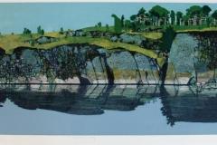 Speiling Litografi (27x85 cm) kr 3000 ur