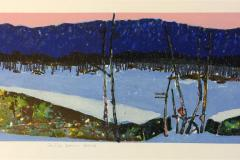 Stille som sne Litografi (20x80 cm) kr 3200 ur