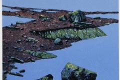 Vår i fjellet Litografi (24x24 cm) kr 1800 ur