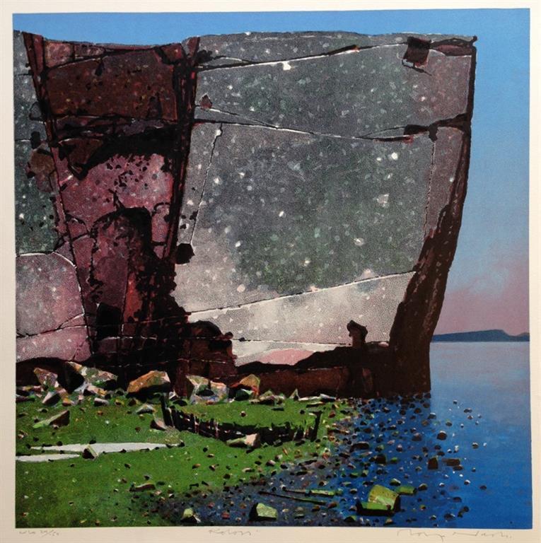 Koloss Litografi 56x56 cm 5500 mr