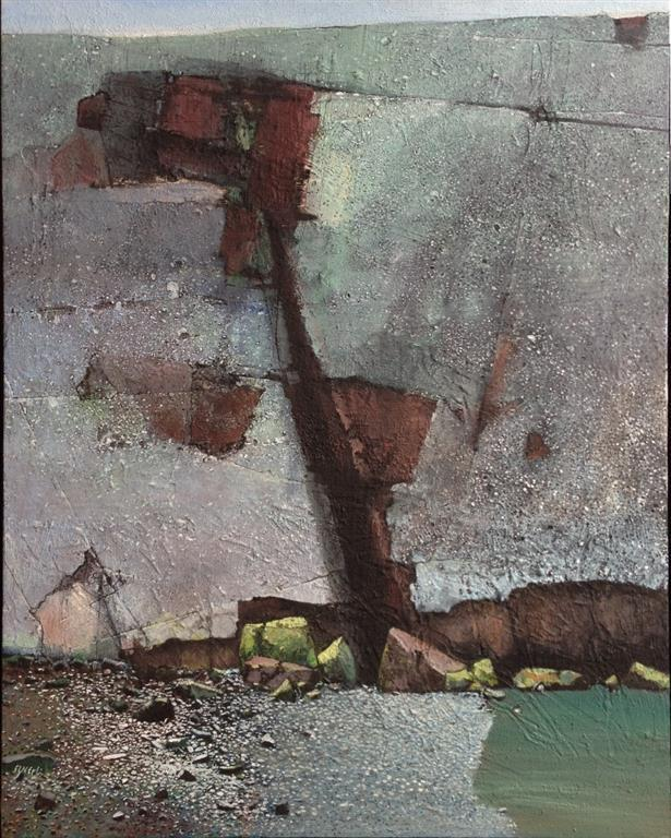 Liten strand I Akrylmaleri 100x80 cm 40000 mr