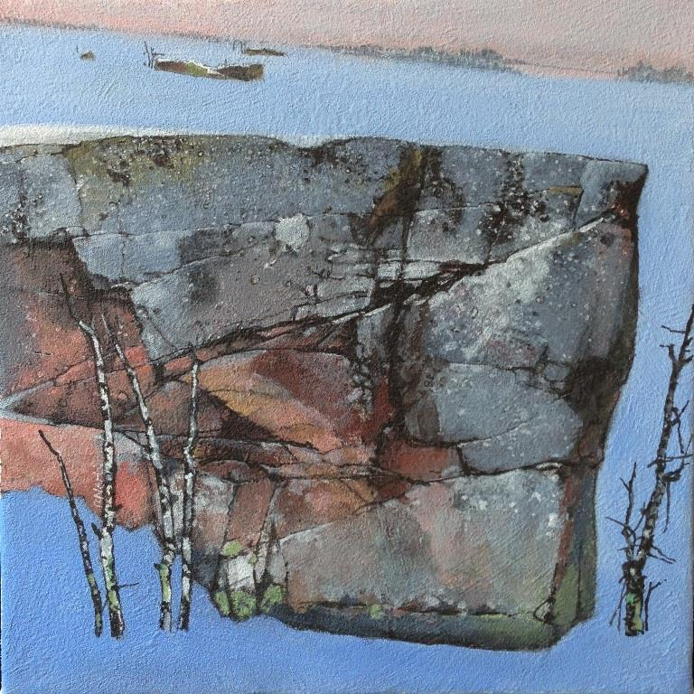 Sent i februar Akrylmaleri 40xx40 cm 15000 mr
