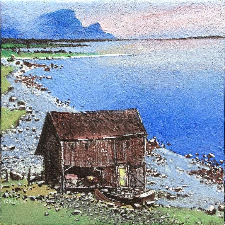 Sommernatt Akrylmaleri 27x27 cm 10000 mr