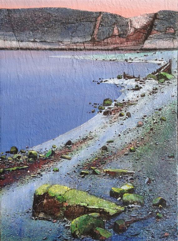 Stranden II Akrylmaleri 73x54 cm 24000 mr
