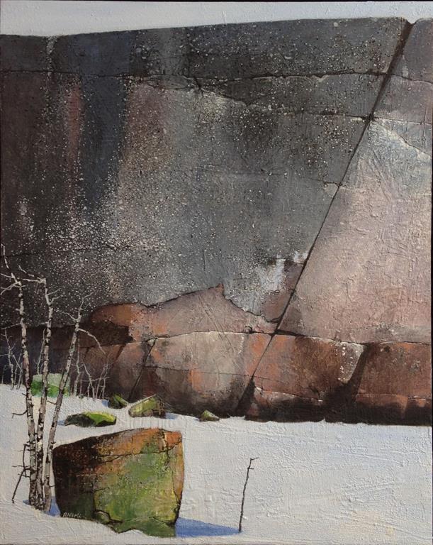 Vinterlys I Akrylmaleri 100x80 cm 40000 mr