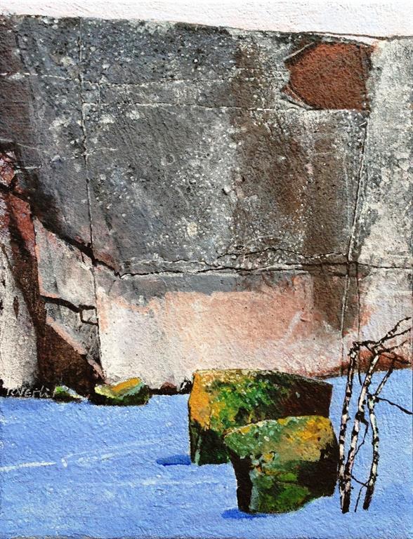 Vinterlys II Akrylmaleri 35x27 cm 9000 mr
