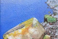 Den store steinen Akrylmaleri 27x22 cm 9000 mr